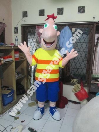 Jasa pembuatan kostum maskot Phineas