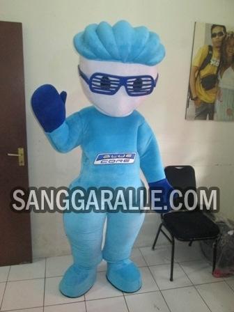 Jasa pembuatan kostum maskot Blue Core