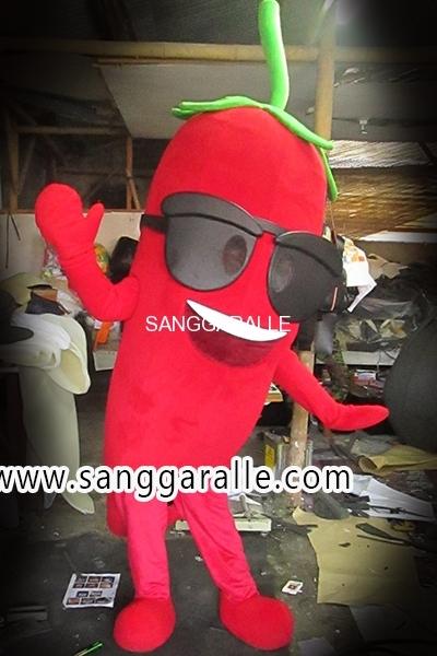 Kostum Maskot Perusahaan Cabe 2