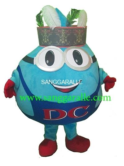 Kostum Maskot Perusahaan Globe Dayak