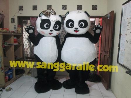 Jasa pembuatan kostum maskot Panda TSI