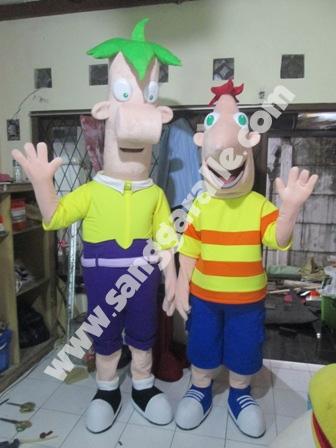 Jasa pembuatan kostum maskot Phineas & Ferb