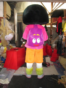 Kostum badut dora sanggaralle1