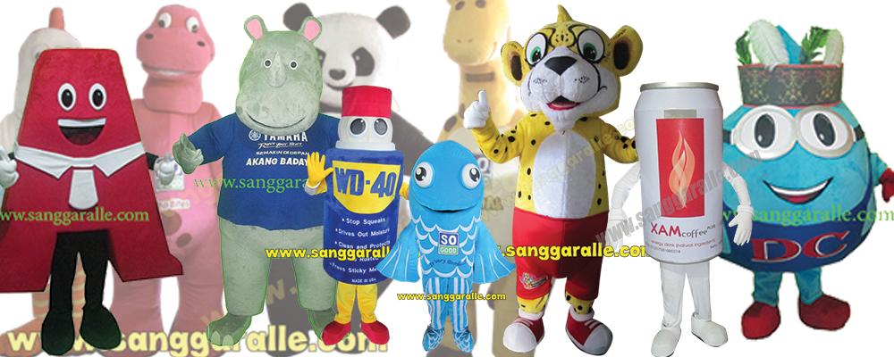 SANGGARALLE | Kostum Badut Maskot | Boneka | Patung | Cosplay 5