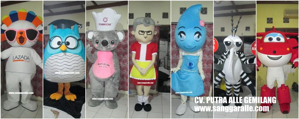 SANGGARALLE | Kostum Badut Maskot | Boneka | Patung | Cosplay 3