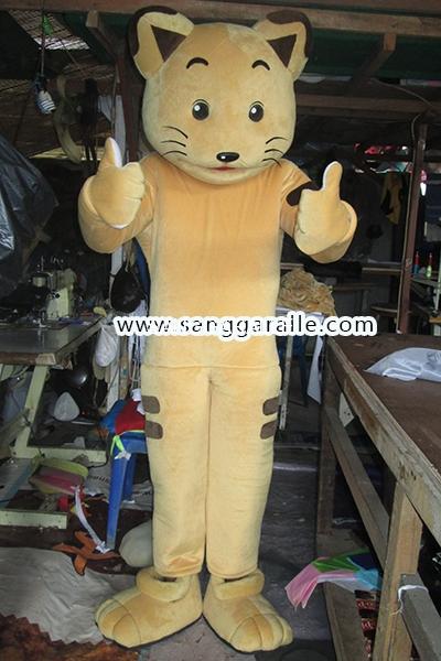 Kostum Maskot Perusahaan Cat 1