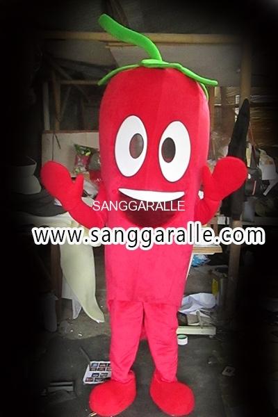 Kostum Maskot Perusahaan Cabe