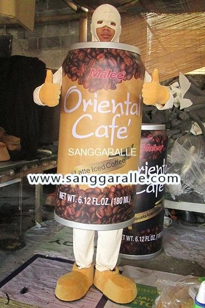 Kostum Maskot Perusahaan Coffie Cafe