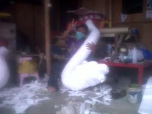 Patung Styrofoam Naga Event Imlek