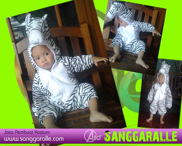 Kostum karakter anak zebra